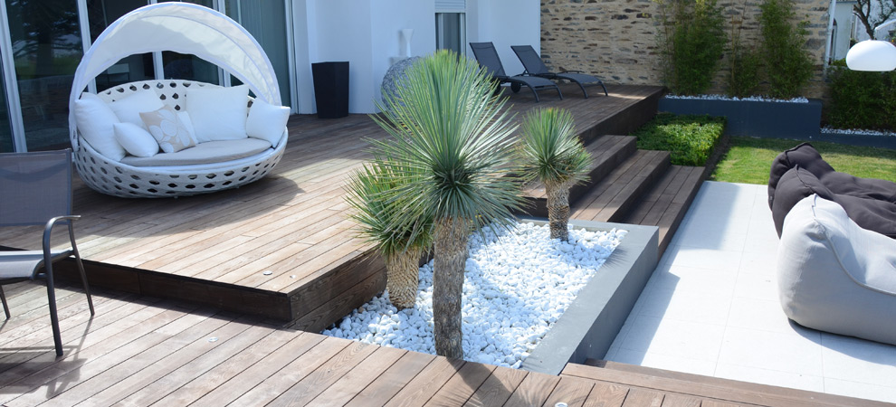 Terrasse en Frêne OHT